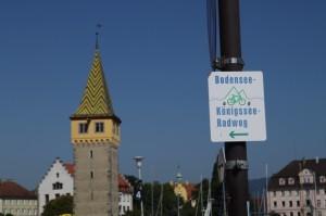 Der erste Wegweiser in Lindau