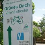 Wegweiser Grünes Dach Radweg