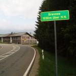 Grünes Dach Radweg's höchster Punkt