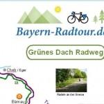 Übersichtskarte Grünes Dach-Radweg