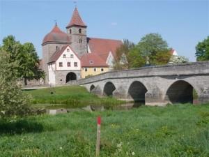 Alte Steinbrücke in Ornbau