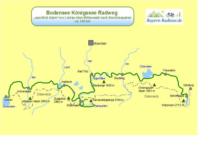 Bodensee Konigssee Radweg Sport Alpin Bayern Radtour
