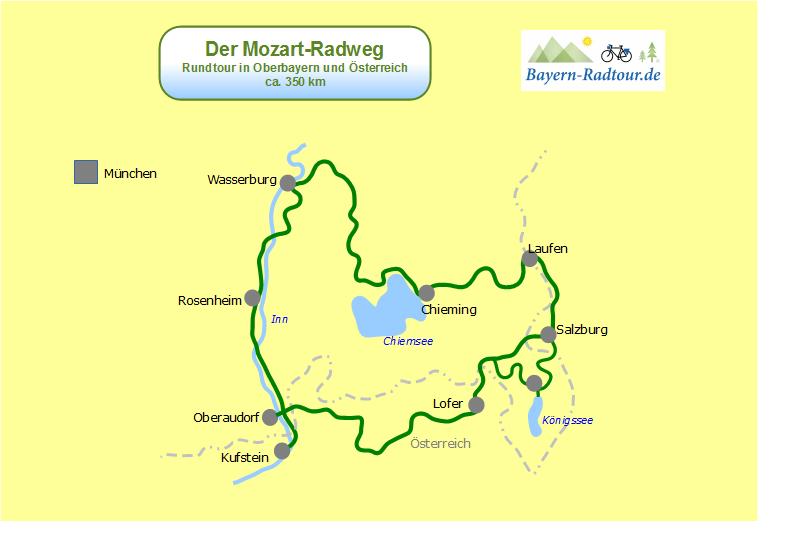 Übersicht Mozart Radweg