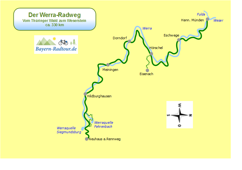 karte_werra_radweg_bayern-radtour