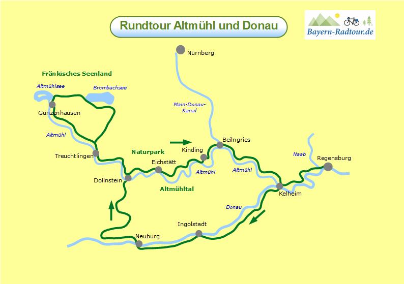 karte-altmuehl-und-donau-rundtour