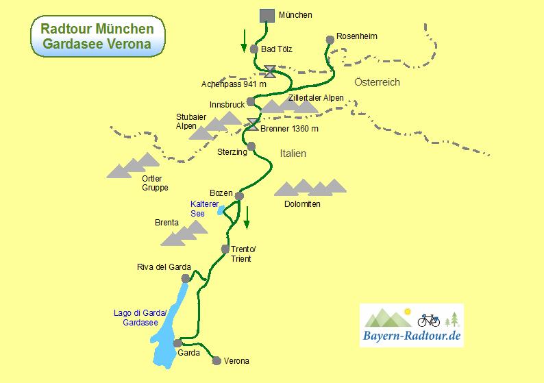 Radtour München Gardasee Verona Günstig Mit Bayern Radtour